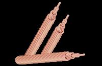 Cáp đồng trần ủ mềm, bện cấp 2 và ép chặt với sản phẩm >=10